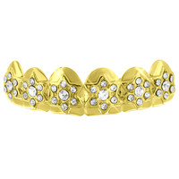 Custom Made Top Teeth Grillz 14k Yellow Gold Finish