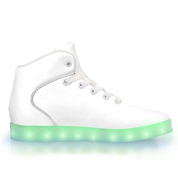 White Out - APP Controlled High Top LED Shoes