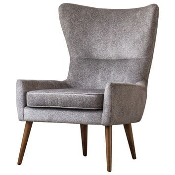 Arya Fabric Chair Tweed Gray