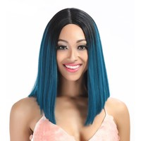 Straight Synthetic Hair Lace Front And T Part Wig 24 Inch