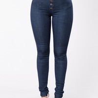 Feeling Frisky Jeans - Dark