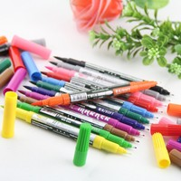 Art and Graphic Drawing Manga Water Based Ink Twin Tip Brushand Fine Tip Sketch Marker Pen 12 Colors /SET Brush Pen