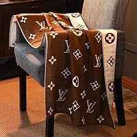 """Louis Vuitton"" LV Newest Stylish Personality Cotton Soft Water Absorption Beach Towel Swimming Towel Bath Coffee"