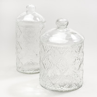 Clear Tile Glass Canisters - World Market