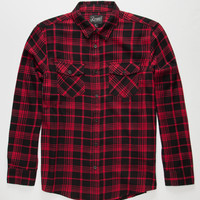 Retrofit G-Ride Mens Flannel Shirt Red  In Sizes