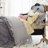 The Emily & Meritt Ruffle Stripe Duvet Cover + Sham