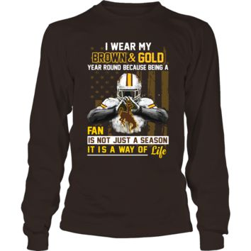 Wyoming Cowboys - Wear My Color Year Round - T-Shirt - Officially Licensed Fashion Sports Apparel