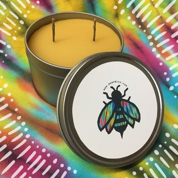 Beeswax Candle Tin 8oz
