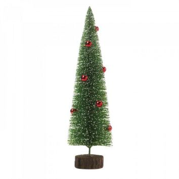 Tall Glitter Tree With Ornaments