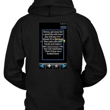 CREYH9S Pink Floyd Quote Screenshoot Plus Hoodie Two Sided