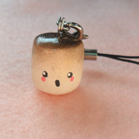 Kawaii Surprised Burnt Roasted Marshmallow Charm