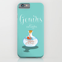 Genius octopus iPhone & iPod Case by Tony Vazquez
