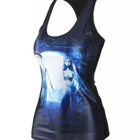 Quality Digital Print Tank Top Clubwear Gothic Punk T-Shirt (Size: M, Color: Multicolor) = 5617288001