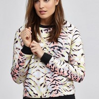 Neon Tiger The Upside Crew Sweatshirt in Neon Tiger by The Upside | Tops | BANDIER