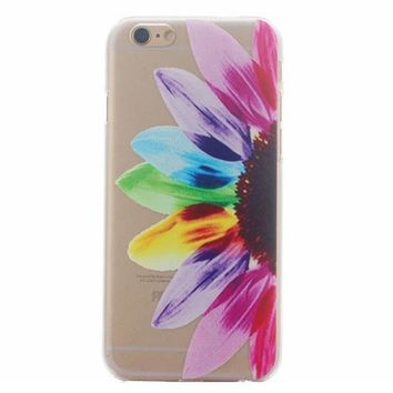 Hollow Out Rainbow Feather Case Cover for iphone 5s 6 6s Plus + Gift Box 41-170928