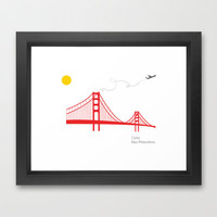 I love San Francisco - Art Print -- FRAMED.