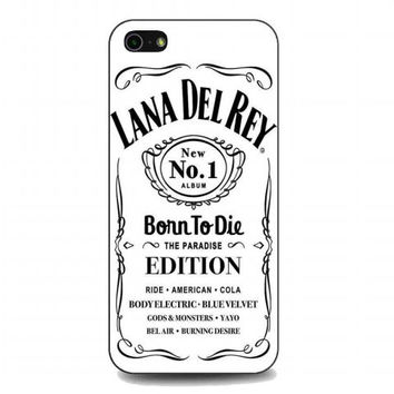 lana del rey jack daniels (2) For iphone 5 and 5s case