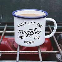 Don't Let the Muggles Get you Down Harry Potter Enamel Camping Coffee Mug
