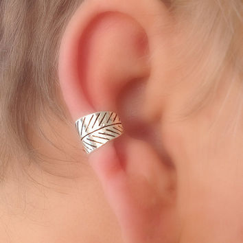 Ear Cuff Tapered Leaf Choice of Colors Non Pierced