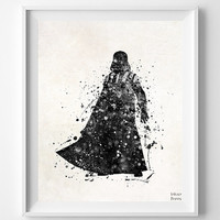 Darth Vader Print, Darth Vader Art, Star Wars Poster, Darth Vader Poster, Star Wars Gift, Star Wars Art, Boy Gift, Type 3, Christmas Gift
