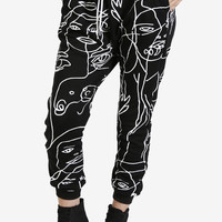 Face Print Sweat Jogger