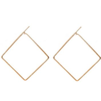 The Nadia Square Hoop Earrings