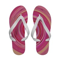 Re-Created Spin Painting Sandals