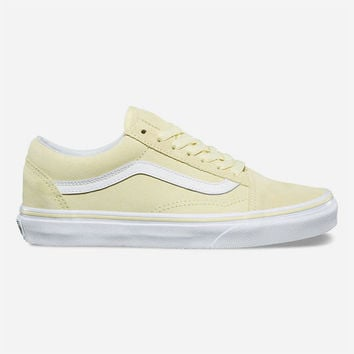 VANS Suede Old Skool Tender Yellow & True White Womens Shoes