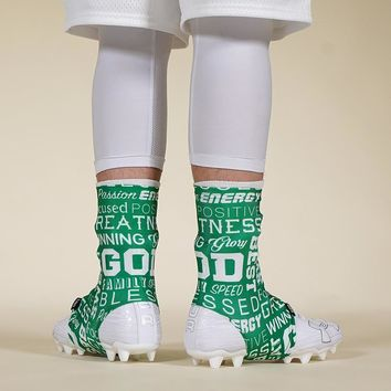Inspirational Green Spats / Cleat Covers