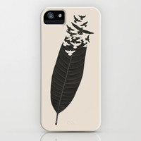 Leave Leaf Left iPhone & iPod Case by Budi Satria Kwan