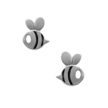 Matte Finish Flying Bumble Bee Earrings