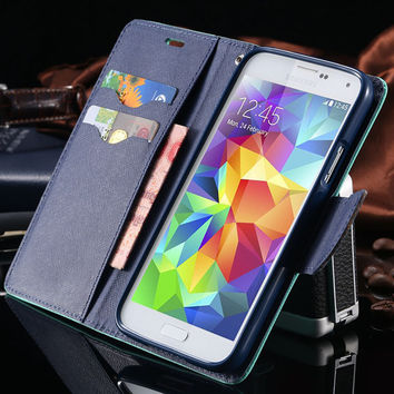Fashion MERCURY Series Leather Case for Samsung Galaxy S3 III i9300 Stand Phone Bags Cover With Card Slots Flip FLM03751
