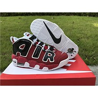 Nike Air more uptempo red black  Basketball Shoes 36-40