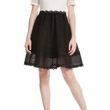 maje Fit & Flare Lace Dress | Nordstrom