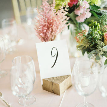 "Modern Calligraphy Table Numbers for Weddings or Showers 4x6"" 1-20"
