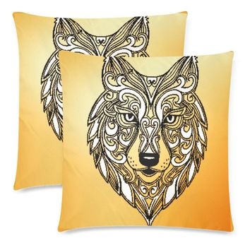 """Wolf Throw Pillow Covers 18""""x 18"""" (Set of 2)"""