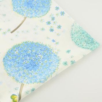 Blue Dandelion Floral Designs 100% Cotton Fabric Bedding Twill Tecido Sewing Fabric Quilting Patchwork Home Textile Decoration