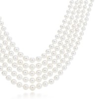 Tiffany & Co. -  Ziegfeld Collection five-strand pearl necklace with a sterling silver clasp.