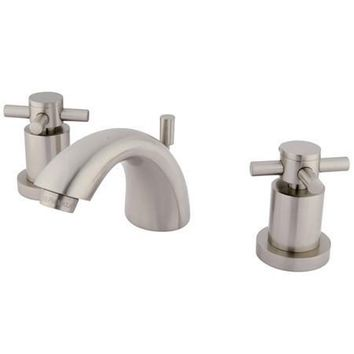 "KS2958DX Two Handle 4"" to 8"" Mini Widespread Lavatory Faucet with Brass Pop-up"