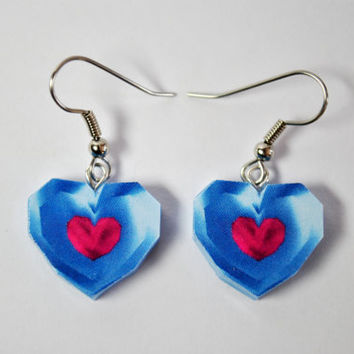 Legend of Zelda Heart Container Pieces - EARRINGS -