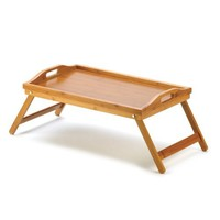 BAMBOO Folding Lap Desk Table Tray Laptop Books Snack Breakfast in Bed Serving