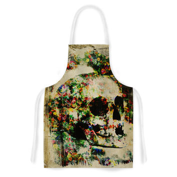 "Frederic Levy-Hadida ""Floral Skully"" Artistic Apron"