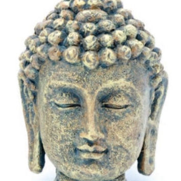Mini Buddha Head Ornament Deco Replica