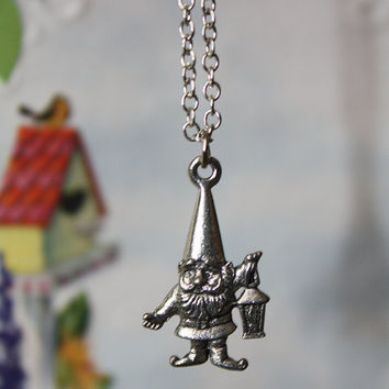 Little Garden Gnome on a Silver Plated Chain by PenelopesPorch