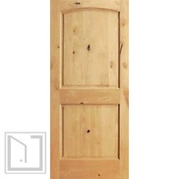 S/W-95 Interior Knotty Alder 2 Panel Arch Top Panel Single Door