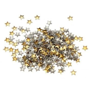 Nail Art 250 Pieces Gold & Silver 5mm Star Metal Studs for Nails, Cellphones:Amazon:Beauty