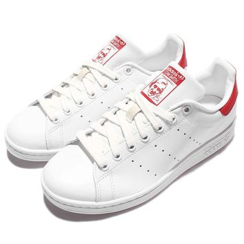 adidas Originals Stan Smith White Red Mens Casual Shoes Sneakers Trainers M20326