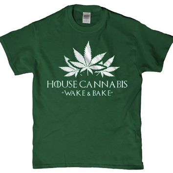 House Cannabis wake and Bake awesome 420 friendly unisex adult t-shirt