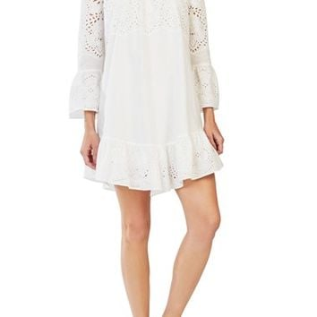 BCBGMAXAZRIA 'Niki' Embroidered Eyelet Shift Dress | Nordstrom