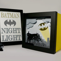 Batman shadow box with light - Night Light